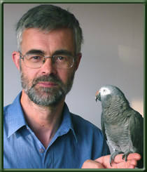 Greg with Grey Parrot